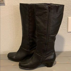 Clarks Shoes - NEW Clark's Cardy black leather zip-up boots, 9.5